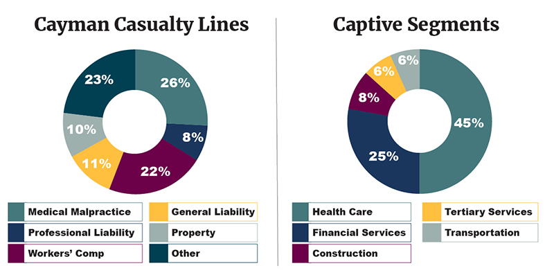 Cayman captive industry segments and casualty lines written-v3